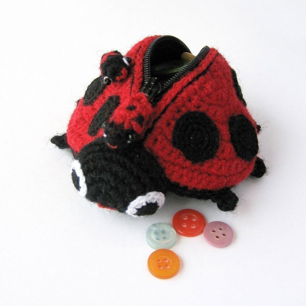 Kawaii ladybird purse Amigurumi Patterns