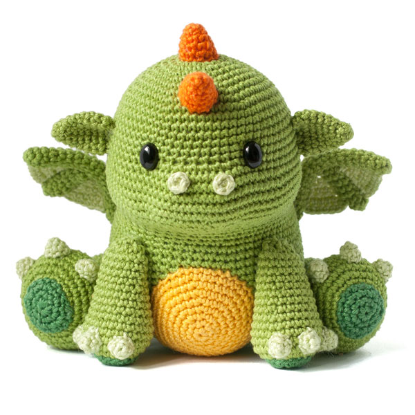 kawaii Baby Dragon amigurumi crochet pattern