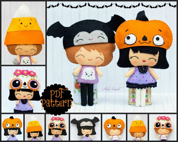 Kawaii Dolls Halloween Sewing Patterns