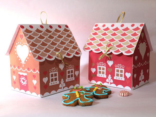 printable gingerbread house gift boxes