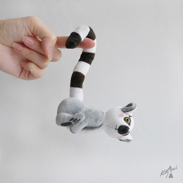 kawaii lemur plush animals sewing kits and patterns
