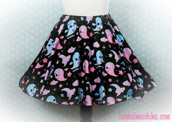 Friendly Ghosts kawaii Halloween skirt