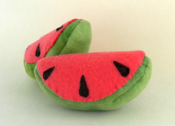 Kawaii Cat Toys watermelon slices