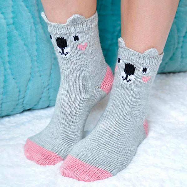 kawaii koala crafts - socks knitting pattern