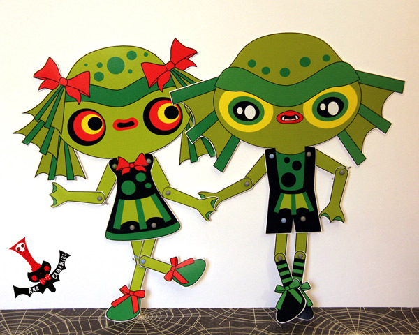 paper doll creature from the black lagoon monsters