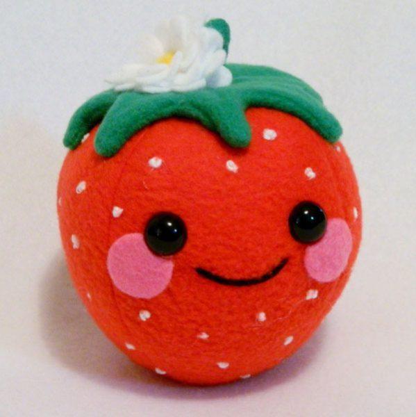 kawaii strawberry plush