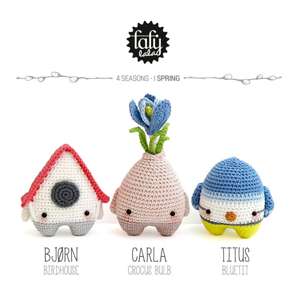 springtime kawaii amigurumi crochet patterns