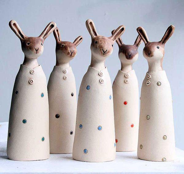 Etsy kawaii - ceramic bunnies