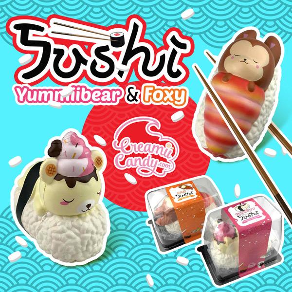 kawaii sushi yummiibear squishy