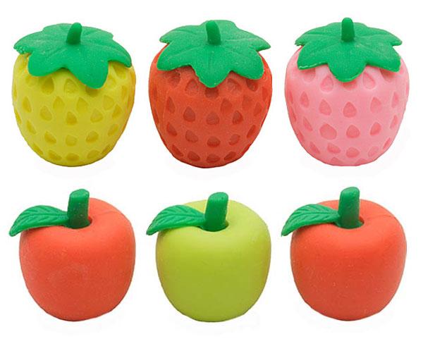 iwako erasers kawaii fruit pencil toppers
