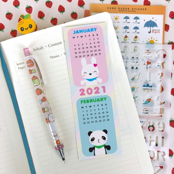 Cute 2021 Printable Calendars bookmarks