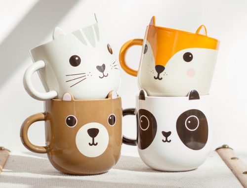 kawaii mugs animals
