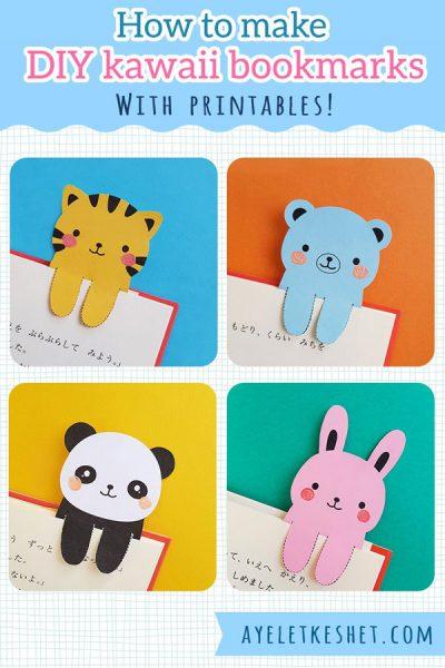 DIY Kawaii animal Bookmarks