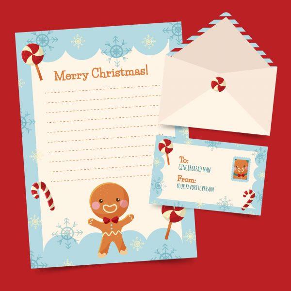 free Christmas printables - letter set