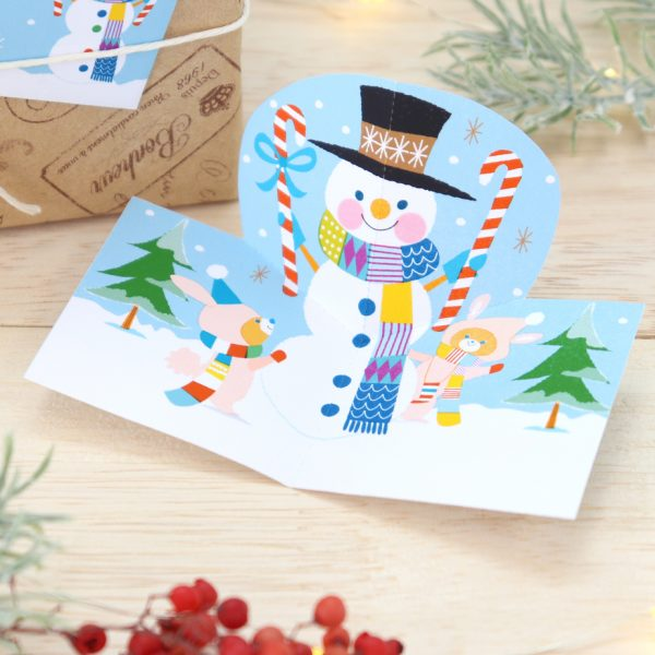 free Christmas printables - pop up card