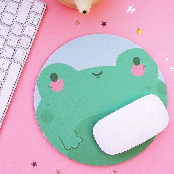 kawaii frogs mousepad