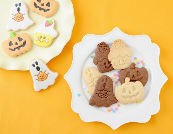 kawaii ghost halloween cookies