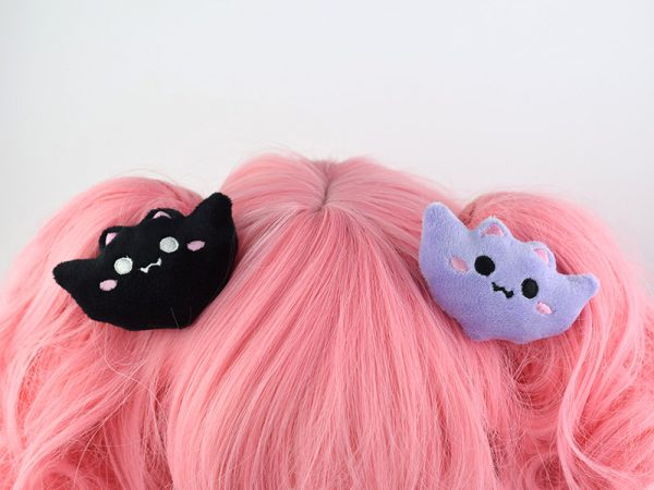 kawaii bat hair clips