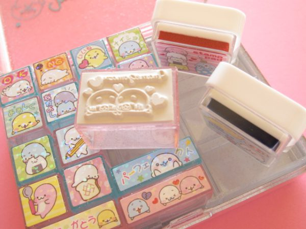 kawaii journalling stamps
