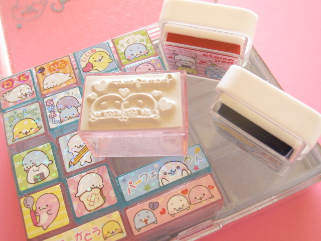 kawaii journalling stamps