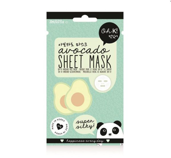 kawaii beauty avocado sheet mask