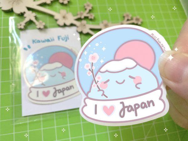 kawaii mount fuji stickers