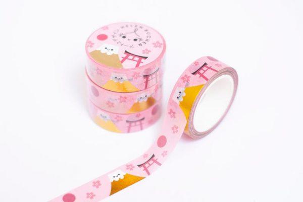 kawaii mount fuji washi tape