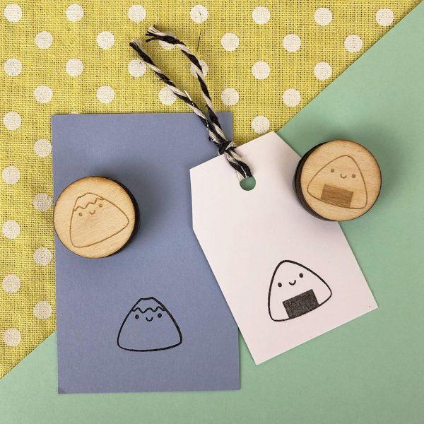 kawaii mount fuji stamps