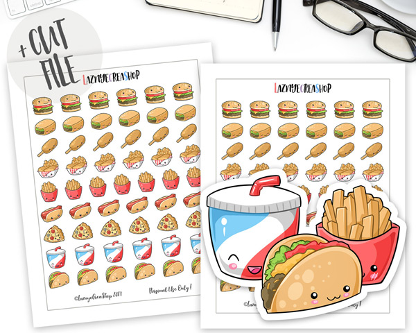 photo relating to Bullet Journal Stickers Printable referred to as kawaii-printable-bullet-magazine-stickers-3 - Tremendous Adorable Kawaii!!
