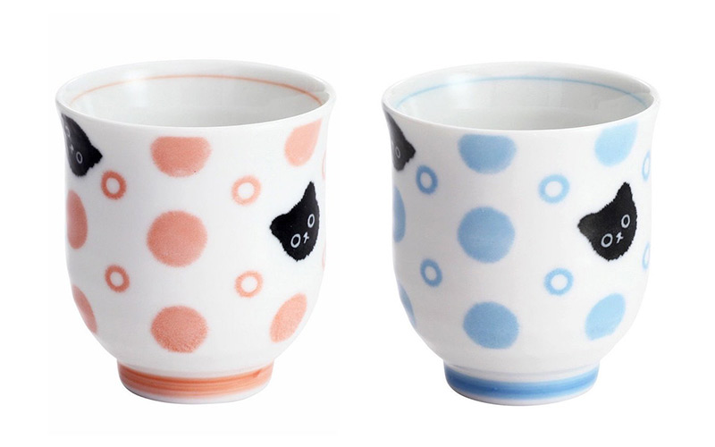cute cat tea cups