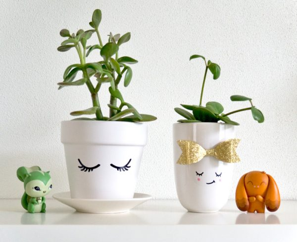diy kawaii planters