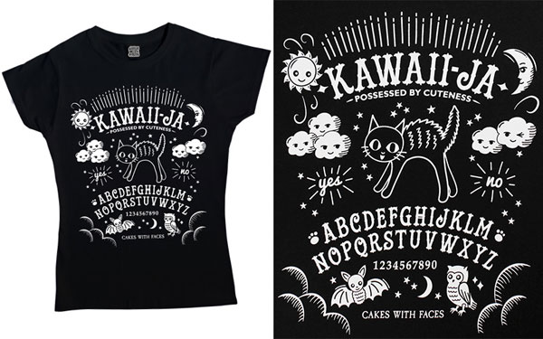 kawaii ouija board tshirt spooky cute