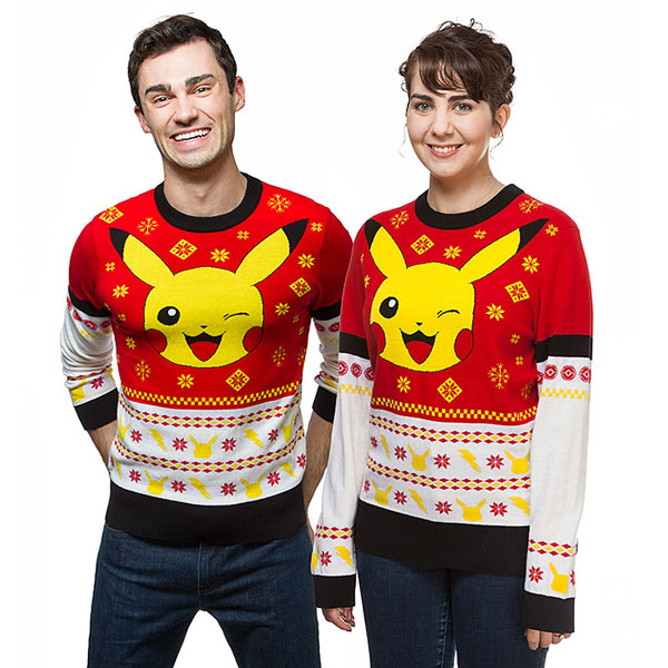 Cute Christmas Jumpers & Sweaters Pokemon Pikachu