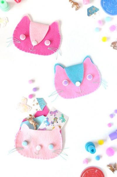 kawaii diy cat purse