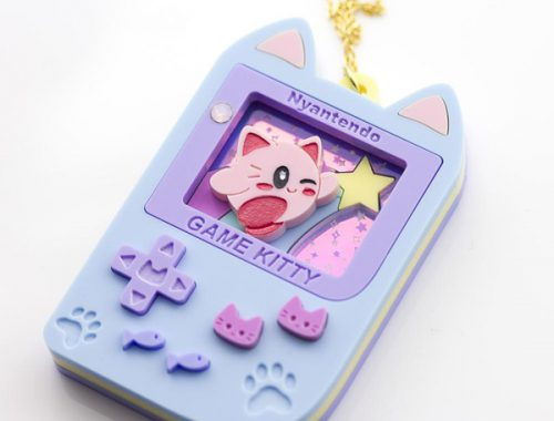 kumacrafts kawaii gameboy necklace