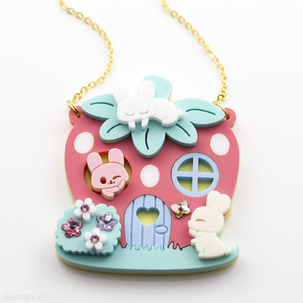 kumacrafts kawaii bunny necklace