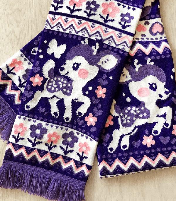fawn kawaii scarf