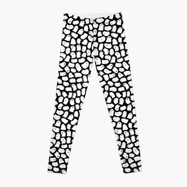 Halloween Clothing - ghost leggings