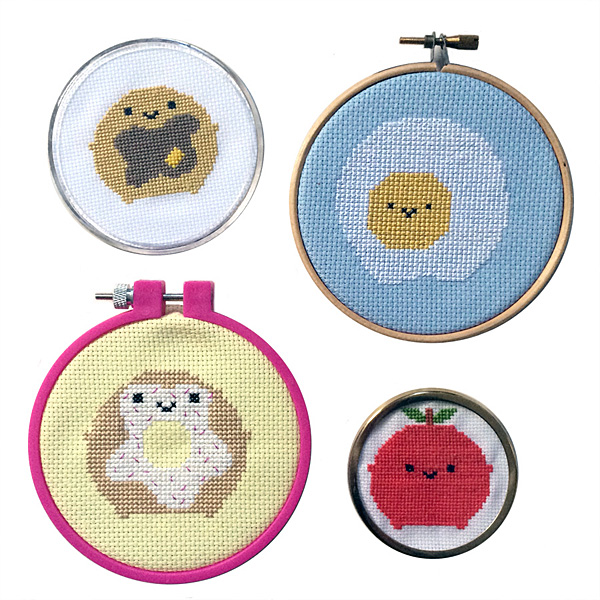 Cute Cross Stitch Kits & Patterns - breakfast food