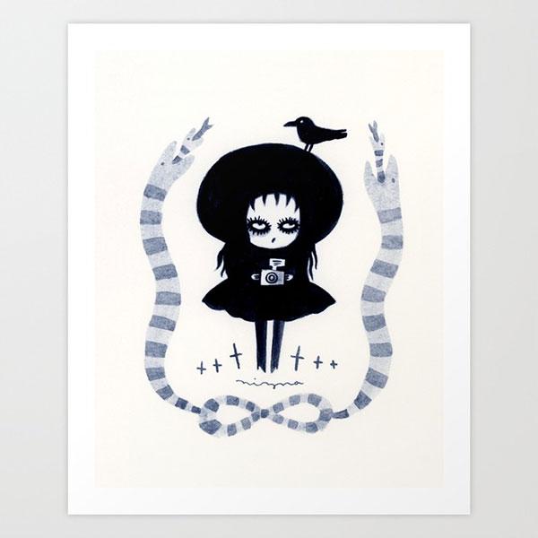 Lydia Deetz Beetlejuice print