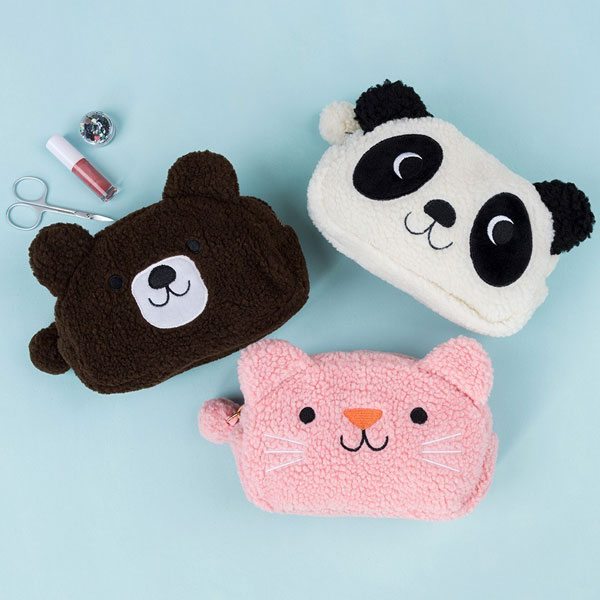 kawaii animals plush pouches