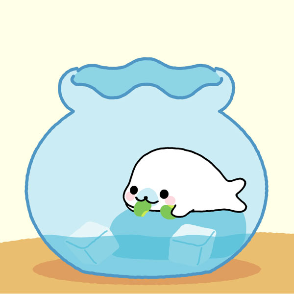 Kawaii Sea Creatures - mamegoma seals