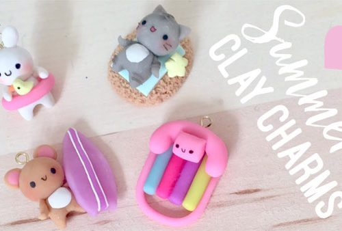 summer crafts clay charms