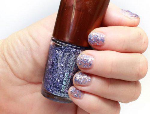 Ultra Violet glitter nail polish