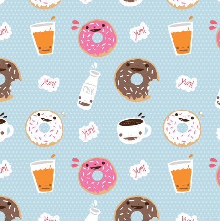 Milktooth fabrics super cute kawaii - Kawaii food wallpaper ...