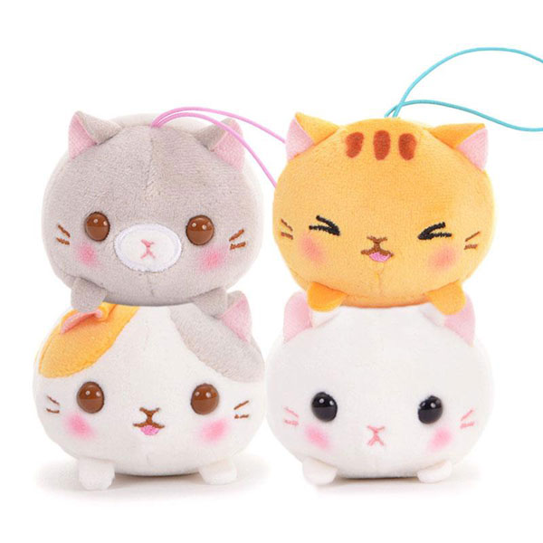 cat plush kawaii keychains