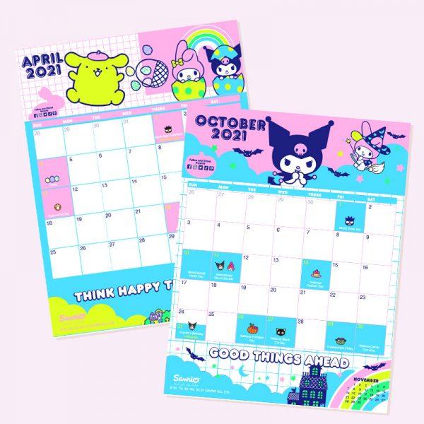 Sanrio free printable calendar