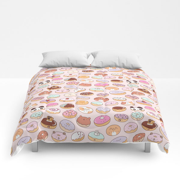 cute comforters kawaii donuts