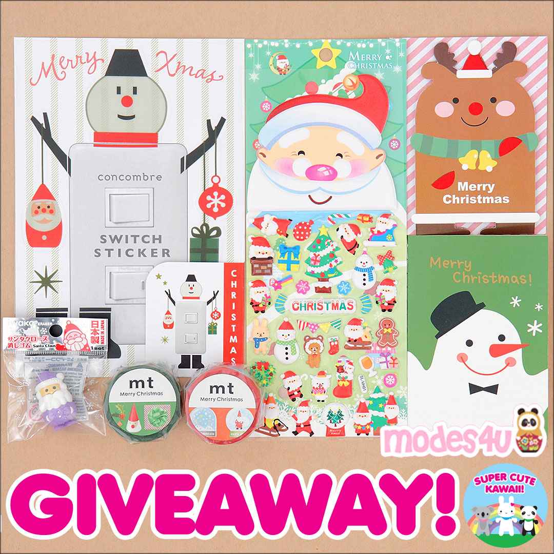 Modes4u Kawaii Christmas Stationery Giveaway