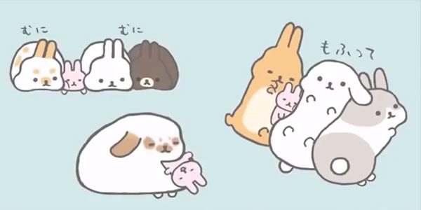Kawaii Bunny Rabbits - Mofutans